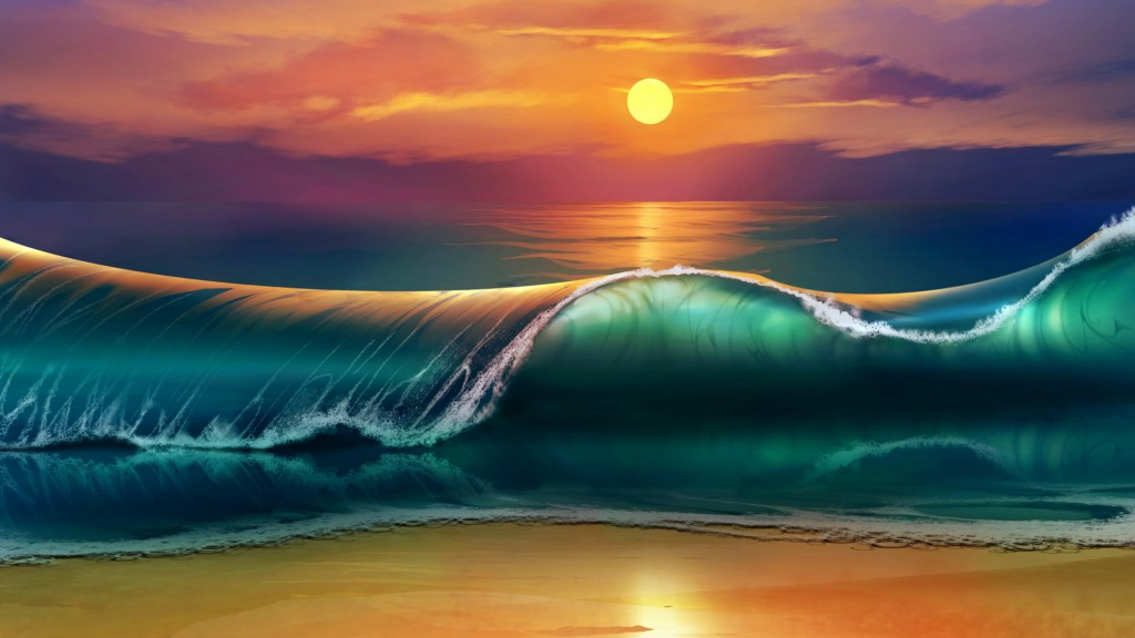 art_sunset_beach_sea_waves_96140_1920x1080