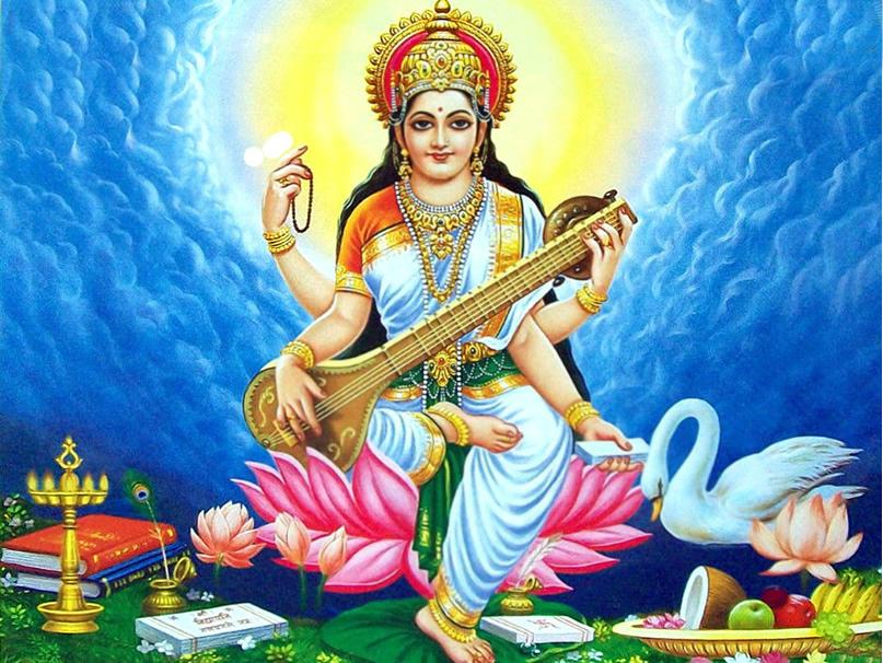 Maa Saraswati-wallpaper-HD-1398950295