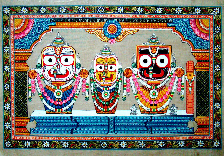 lord jagannath with balram and subhadra